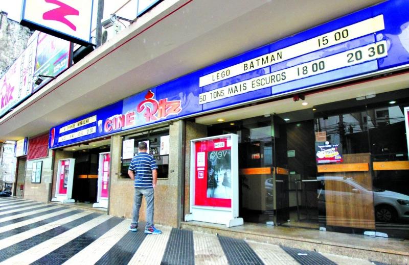 fachada do cinema Cine Ritz de Goiânia