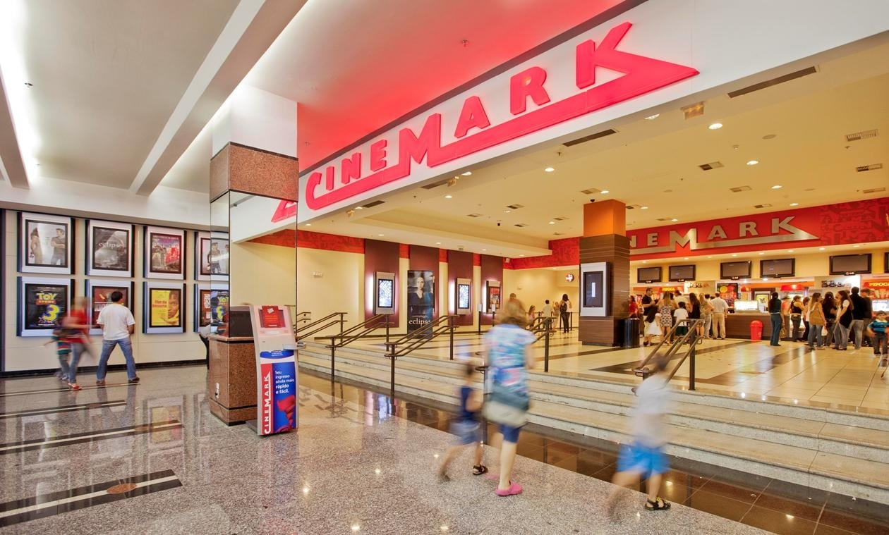 fachada do cinema Cinemark no shopping Flamboyant em Goiânia