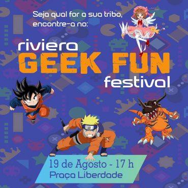 cartaz de divulgação do evento geek em goiania, riviera geek fun festival
