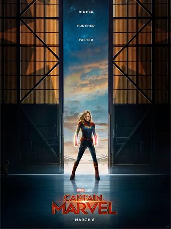 """Poster divulgação do filme """"Capitã Marvel"""""""