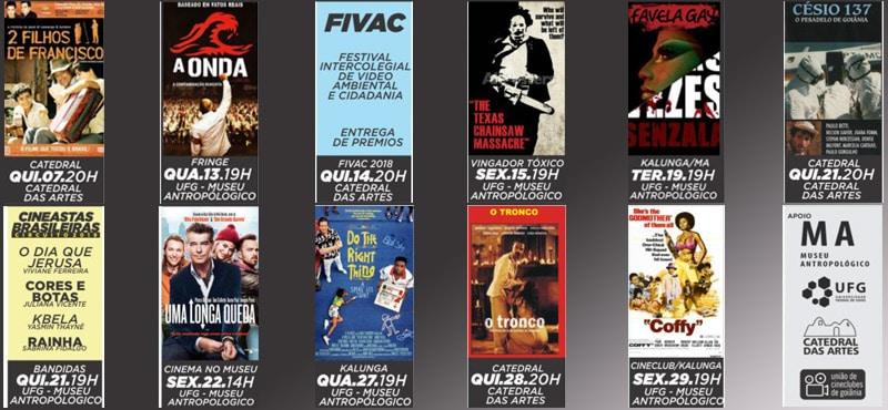 Programação de Março da União de Cineclubes de Goiânia