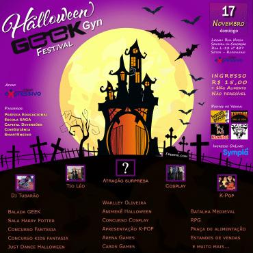 Neste domingo (17) tem Geek Gyn Halloween