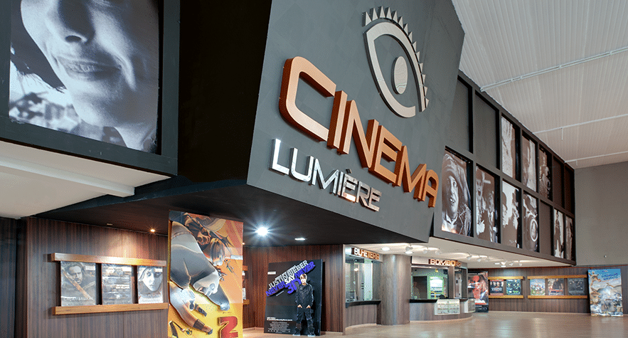 Fachada do Cinema Lumière Araguaia Shopping